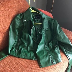 Express Moto Jacket. Green. New!
